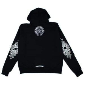 Chrome Hearts Single Floral T Logo Zip Up Hoodie